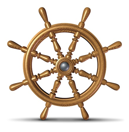 Boat and ship steering wheel  photo