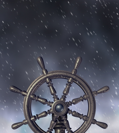 water wheel: Navigating a through a storm