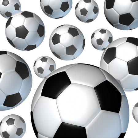 Flying soccer ball in the air Stock Photo - 12667790