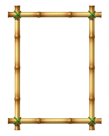 Bamboo sticks blank frame  Stock Photo - 12668159