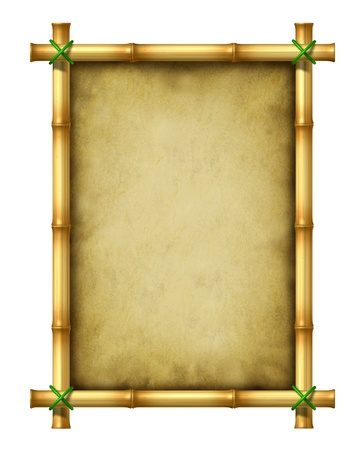 wood texture background: Bamboo blank frame