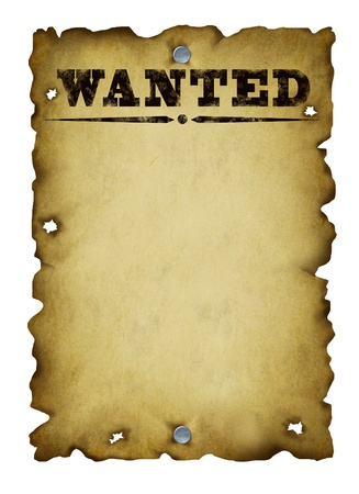 Old western wanted poster Stock Photo - 12668172