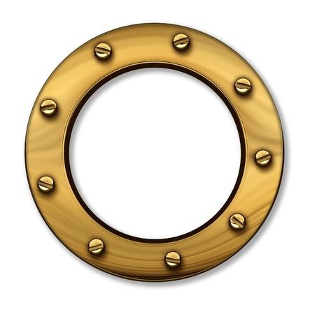 Porthole or ship window as a nautical and marine symbol Stock Photo - 13034116