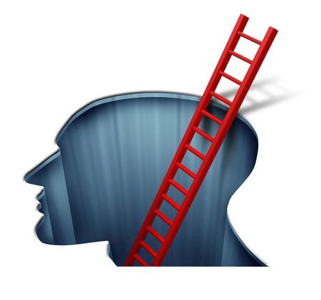 terapia psicologica: La psicoterapia y la psicolog�a para el estudio del funcionamiento del cerebro humano Foto de archivo