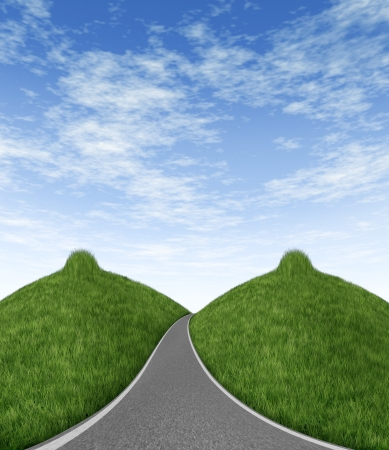 road with female breasts  Stock Photo