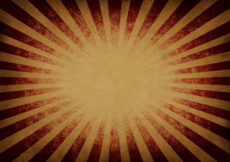hintergr�nde: Retro vintage explodierenden rot und orange Stern Burst oder Sonnenstrahl Hintergrund in einem alten Grunge festlichen antike Textur als Design-Element mit einem leeren Bereich f�r einfache Textbearbeitung