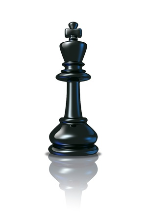 Chess King standing as a winning leader after planning a competitive strategy for success and acheivement as a symbol and icon of business achievement and strong leadership  Stock Photo - 13325446