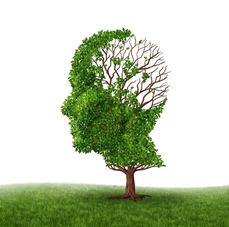 Brain function loss and dealing With dementia and Alzheimer Stock Photo - 13559413