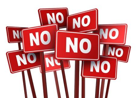 isol� sur fond blanc: Vote aucun signe de campagne et de protestation pour une question politique ou sociale dans une �lection r�sultant � une manifestation groupe de manifestants pour arr�ter une loi ou une politique �tabli par un politicien sur un fond blanc isol�