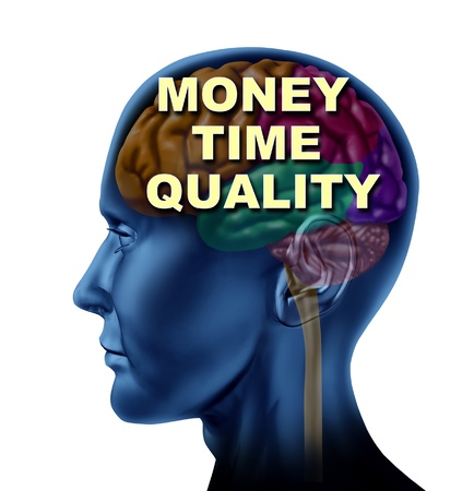 Brain money time quality isolated mind currency control concept on an isolated background  Stock Photo - 14119835
