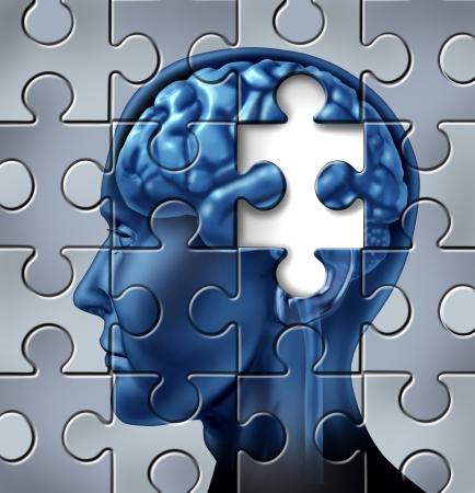 Geheugenverlies en Alzheimer Stockfoto