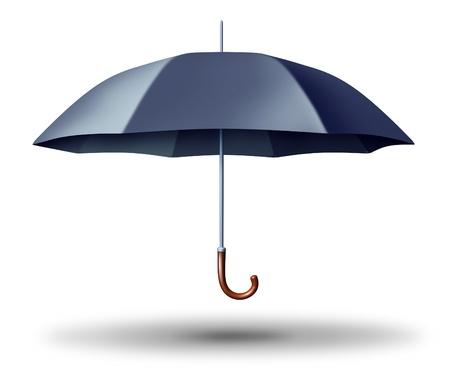 erhaltend: Schwarz er�ffnet Umbrella Schutz als Versicherung und sichere konservative Gesch�ftspolitik Symbol der finanziellen Sicherheit