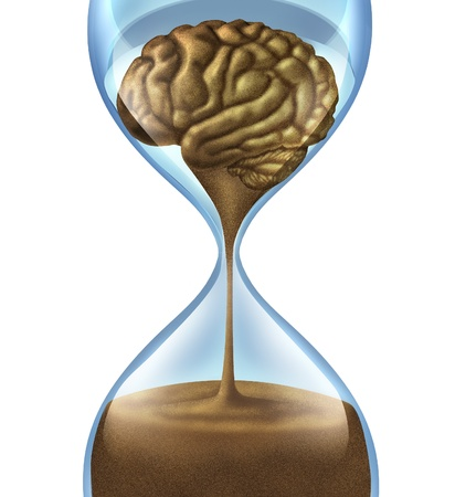 Losing your memory problems as a mental illness symbol of Dementia and Alzheimer Banque d'images