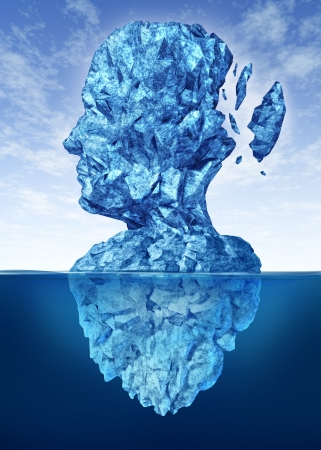 freeze: Memory loss due to Dementia and Alzheimer Stock Photo