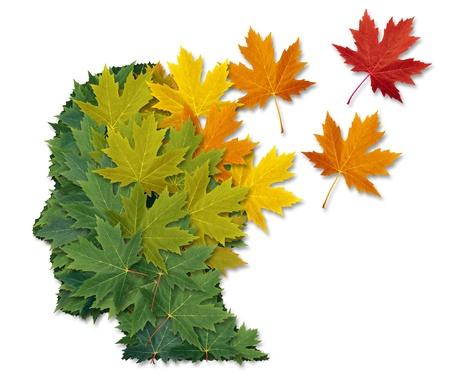Psychische aandoeningen en de ziekte van Alzheimer Stockfoto