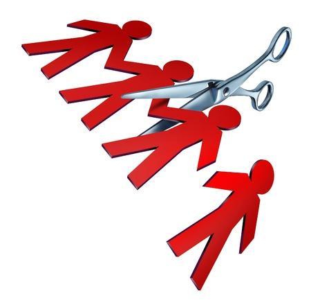 감원 인해 나쁜 경제에 깨진 팀워크 발사와 더 나은 비즈니스의 효율성을 위해 실업과 손실을 축소