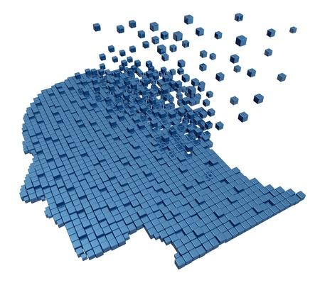 Gedächtnisverlust durch Demenz und Alzheimer Standard-Bild