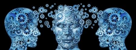 training: Zakelijke onderwijs en corporate management training programma's met menselijke hoofden Stockfoto