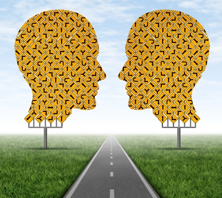 一起合作,讓專注於一個清晰的路徑被作為一個團隊工作,以實現一個共同的目標 版權商用圖片