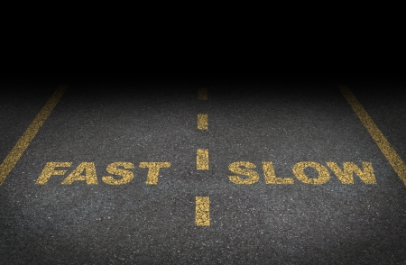 Fast and slow lanes as a business dilemma Stock Photo - 16086680