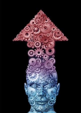 El potencial humano y la libertad del cerebro para expresar la creatividad y las nuevas ideas de negocio
