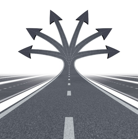 Road to opportunity and career choices   版權商用圖片