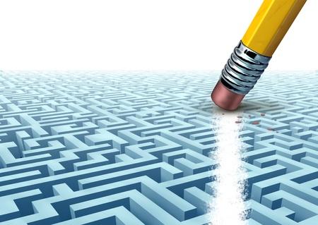 기술 결정 및 빈 공간이 미래의 재정적 인 성공의 결과로 강력한 관리 조직에 대해 생각하는 새로운 방법을 문제 해결을 사용하여 어려운 문제를 해결 스톡 콘텐츠