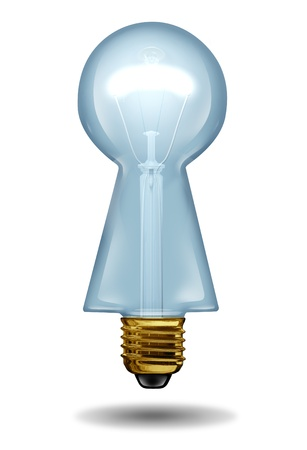 a light bulb in the shape of a keyhole Stock Photo - 17472599