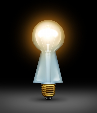a light bulb in the shape of a keyhole Stock Photo - 17472626