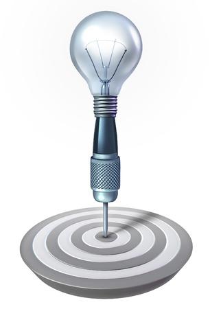 business pitch: a light bulb shape