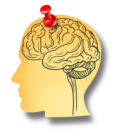 Brain reminder memory loss mental health medical concept of Dementia and Alzheimer Stock Photo - 19265910