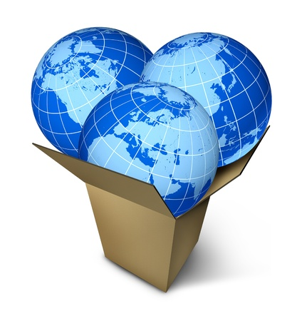 international internet: World parcel shipping and international package delivery business  Stock Photo
