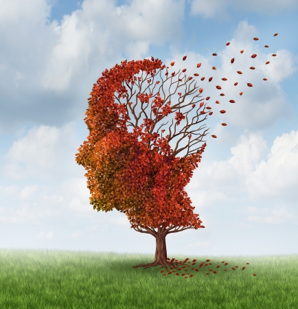 Brain disease with memory loss due to Dementia and Alzheimer photo