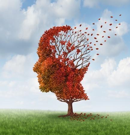 esquizofrenia: Enfermedad cerebral con p�rdida de memoria debido a la demencia y Alzheimer Foto de archivo