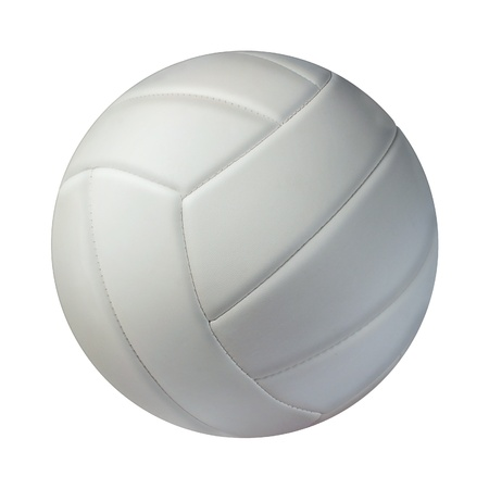 ball: Volleyball isolated on a white background as a sports and fitness symbol of a team leisure activity playing with a leather ball serving a volley and rally in competition tournaments
