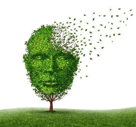 Maladie de la démence face à la maladie d'Alzheimer Banque d'images - 21492135