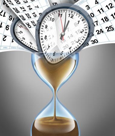 gestion del tiempo: Perder concepto de negocio hora de importantes fechas de las citas en un calendario de mes diaria que representa el estr�s de los plazos de estilo de vida y la gesti�n de calendario con la planificaci�n o estrategia para la familia y una fecha financiera Foto de archivo