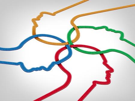 juntos: Conceito de desenvolvimento comunit Imagens