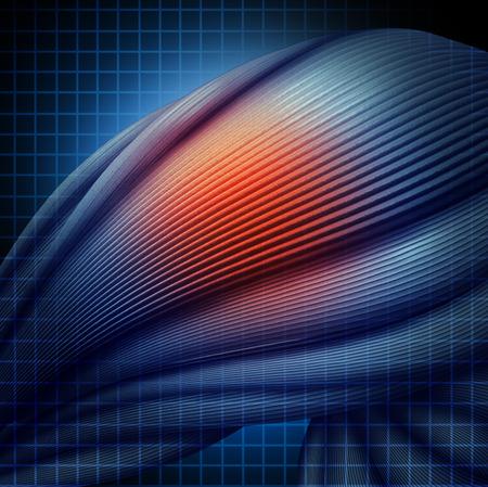 tendones: Concepto de Lesiones M�sculo humano asistencia sanitaria m�dica como la anatom�a del hombro azul con dolor inflamaci�n roja como s�mbolo de dolor en el cuerpo o calambres dolor
