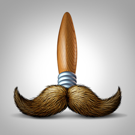 masculin: Artist moustache brush concept as a paintbrush