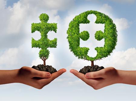 Business consulting adviseren en financieel advies-concept