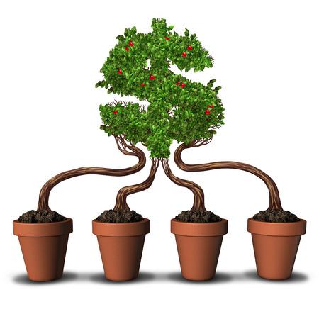Wirtschaftliche Entwicklung Und Wachsende Branche Konzept Mit Bäumen ...