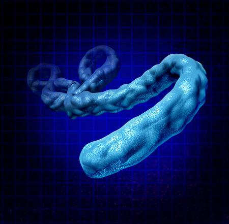 mortale: Malattia virus Ebola concetto medico come un microbo pericoloso dimensionale tre causando sintomi come febbre emorragica come simbolo la salute umana del dangersof un'infezione da un microrganismo letale Archivio Fotografico