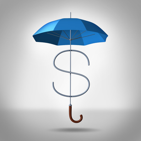 financial protection: Tax shelter and security costs financial and business concept  Stock Photo