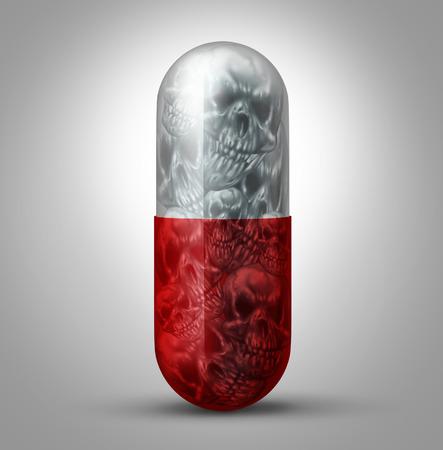 Prescripción concepto del abuso de drogas como un símbolo tema social para la adicción a la medicación farmacéutica y el peligro de la salud y un problema de ser adicto al y sobredosis de medicamentos recetados. Foto de archivo