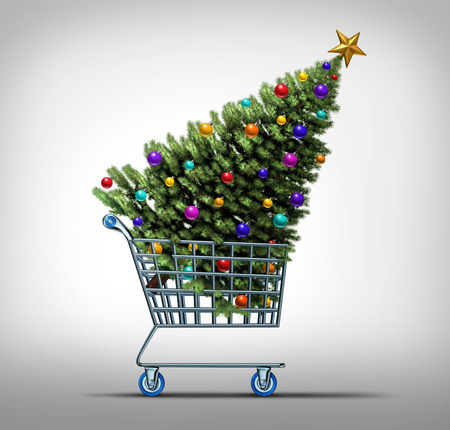 christmas spending: Christmas shopping concept