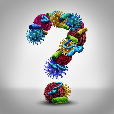 question marks: Disease questions medical concept  Stock Photo