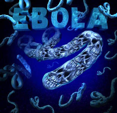 outbreak: Ebola outbreak danger as a deadly virus disease medical concept  Stock Photo