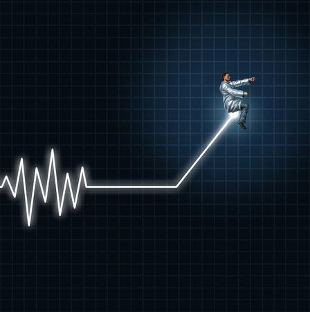 reanimować: Medyczne pojęcie zdrowia jako lekarz i naukowiec prowadzenia i zarządzania EKG lub monitora ekg świateł płaskiej linii niebezpieczeństwie.
