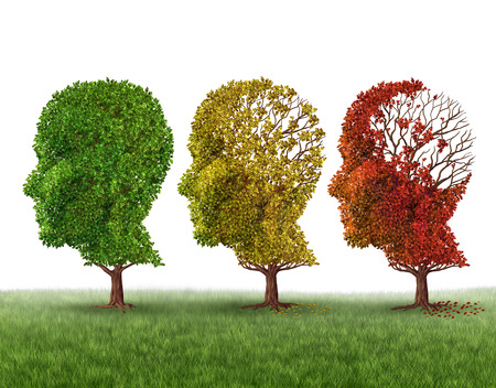 Memory loss and brain aging due to dementia and alzheimer Stock fotó - 38697289